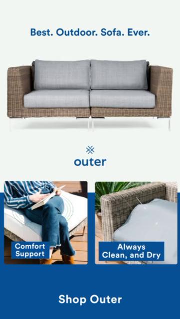 Best outdoor sofa ever