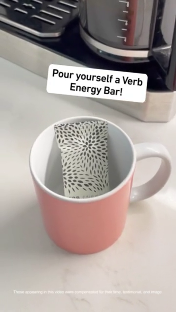 Pour yourself a verb energy bars